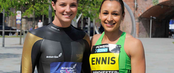 Keri-Anne Payne and Jessica Ennis